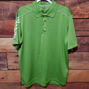 Men's Adidas ClimaCool Lime Green Golf Shirt Sz L